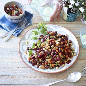 Moroccan Kidney Bean And Chickpea Salad