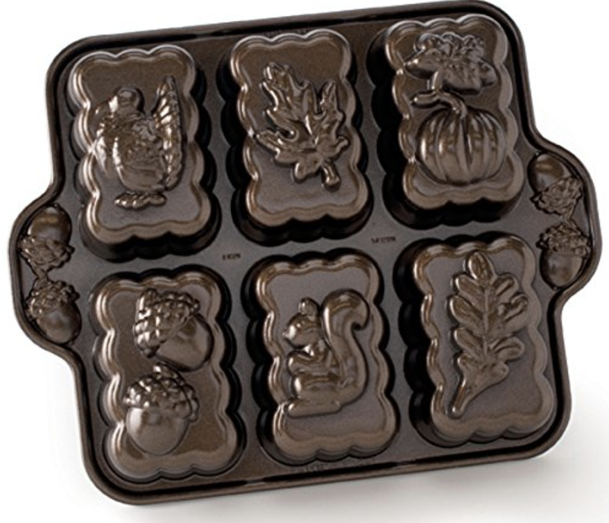 Nordic Ware Harvest Mini Loaf Pan (Bronze)