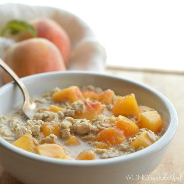 Peaches And Cream No-Cook Oatmeal