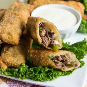 philly-cheese-steak-egg-rolls