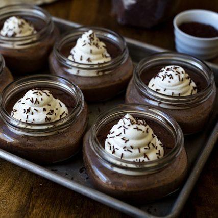 Pressure Cooker Chocolate Pots de Crème