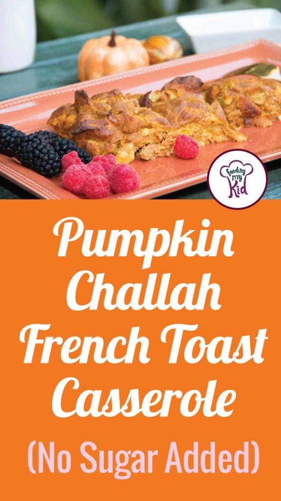 This Pumpkin Challah French toast casserole recipe is loaded with the health benefits of pumpkin and all the cinnamon goodness of Fall.