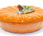 Covered Pumpkin Pie Dish