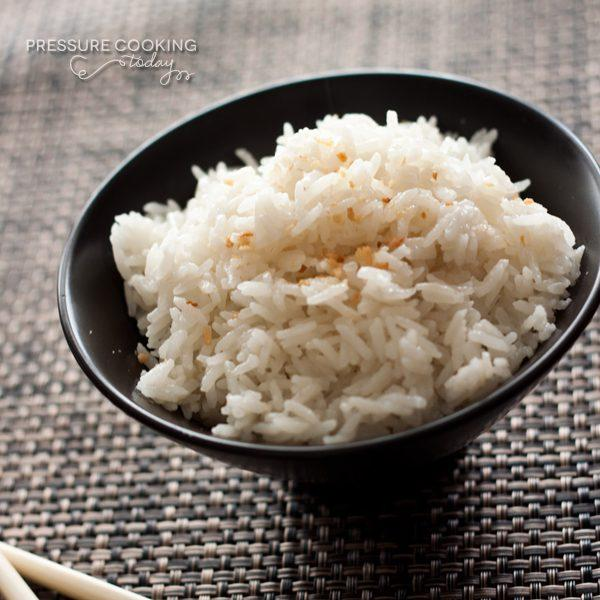 Quick Pressure Cooker Coconut Rice