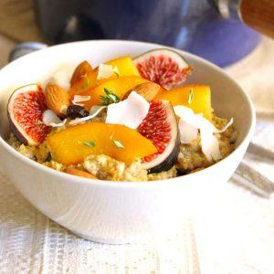 Quinoa And Chia Porridge With Stone Fruits