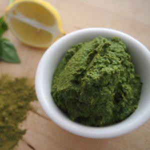 Raw Moringa Spinach Pesto
