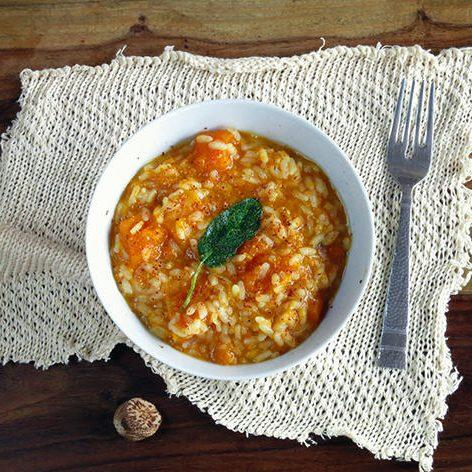 Sage And Nutmeg Butternut Squash Autumn Risotto