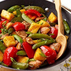 Sesame Pineapple Chicken Stir Fry