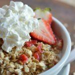 Strawberry And Cream No Cook Oatmeal