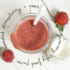 Strawberry Pear And Cinnamon Puree
