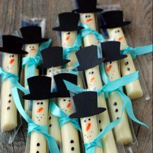 String Cheese Snowmen