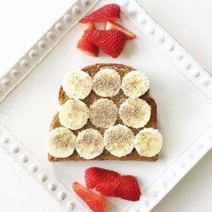 Sun Butter, Banana And Chia Seed Toast