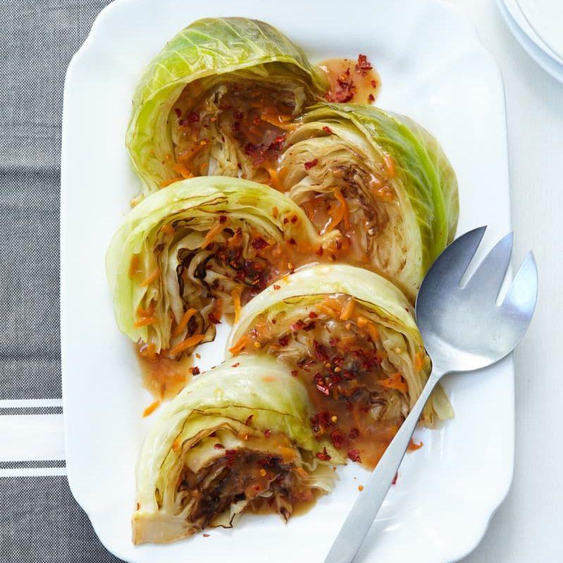 Sweet And Spicy Braised Cabbage