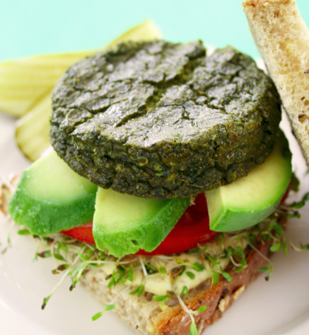 Tofu Green Goddess Burgers