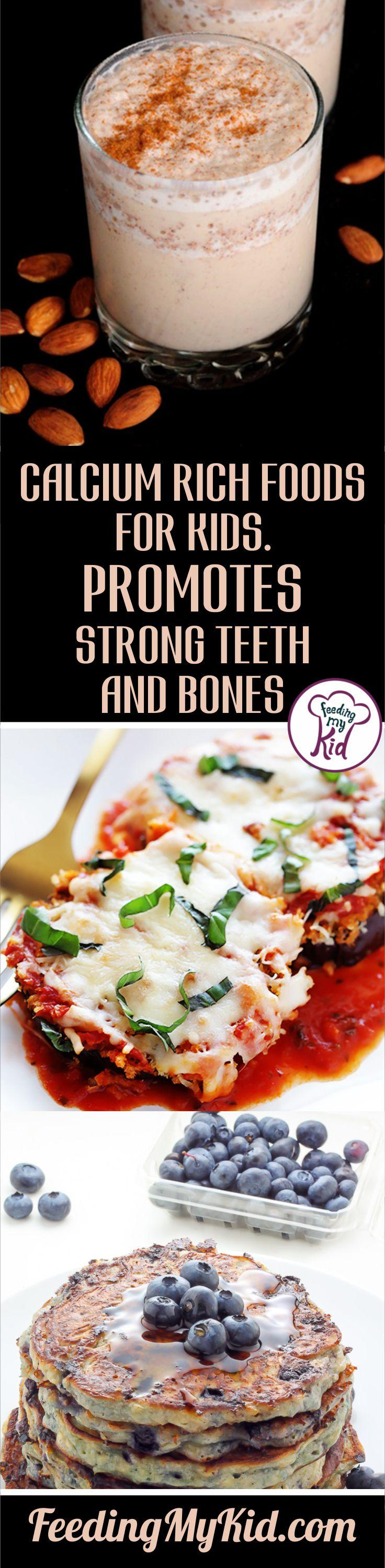 Calcium rich foods help promote strong teeth and bones for your kids! Check out these recipes that are nutrient and calcium rich.