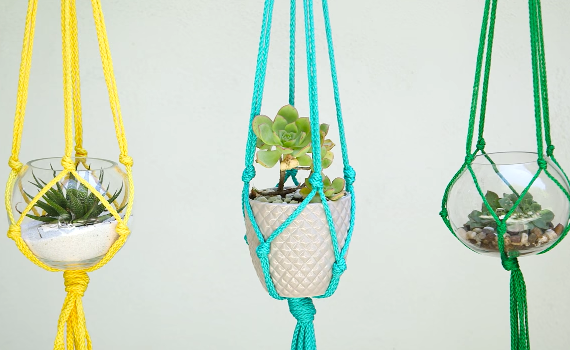 5 minute macrame plant hanger macrame plant hanger made in only five minutes 6496