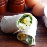 Spinach Avocado Egg Wrap