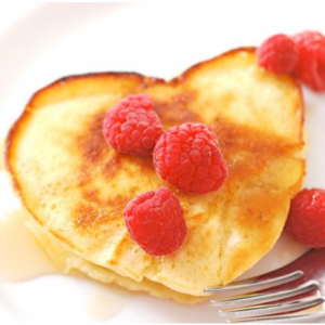 heart shaped pancake