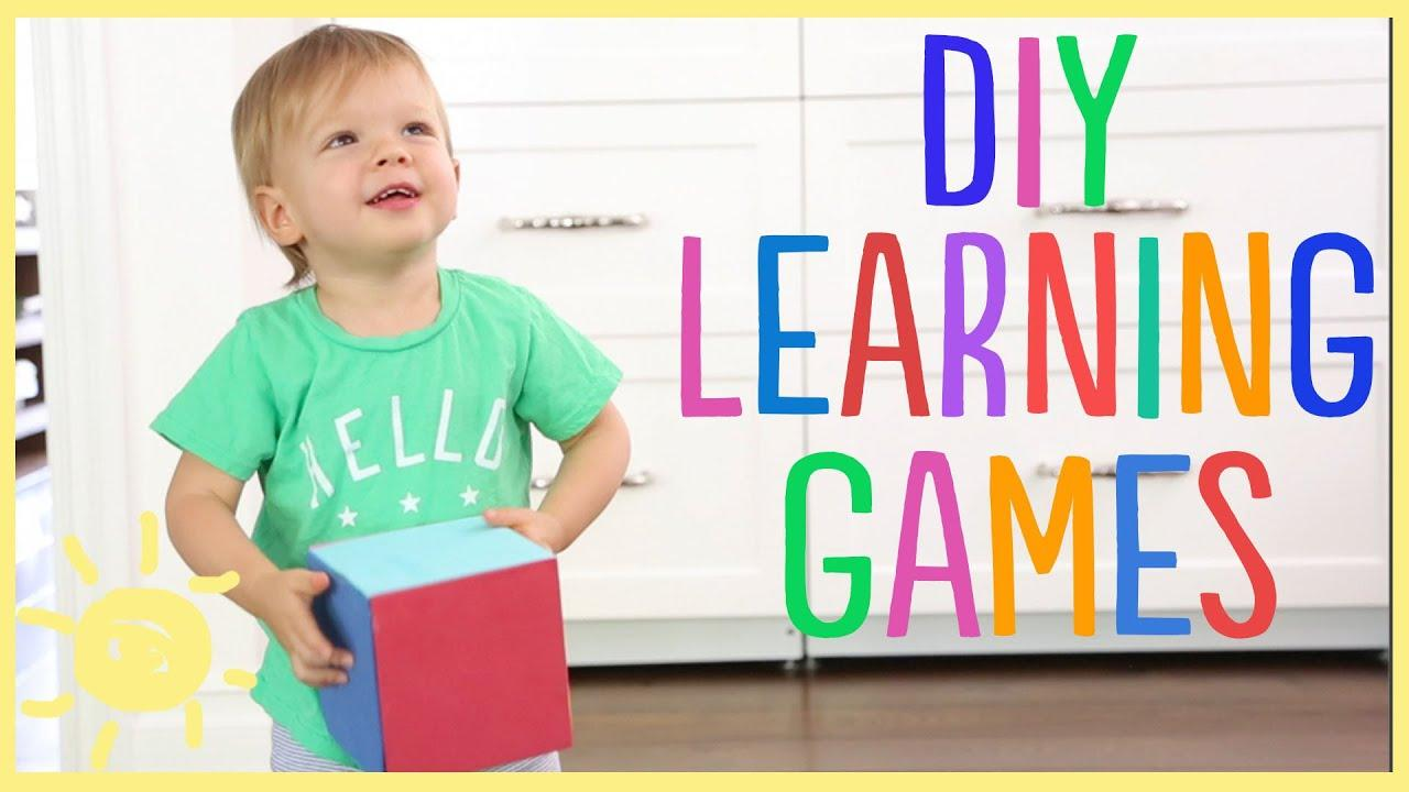 Learning games for kids don't have to be store bought to be great. Check out these brain games you can make at home using a few supplies.