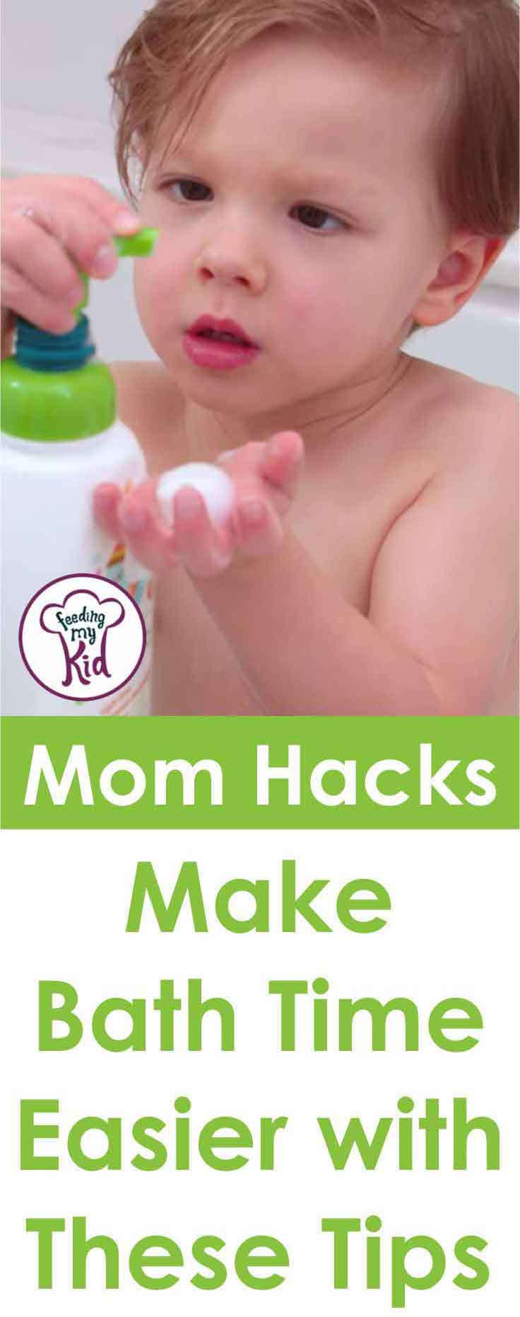 Bath time can be a struggle. Check out these mom hacks from What's Up Moms that will make bath time so much less stressful.