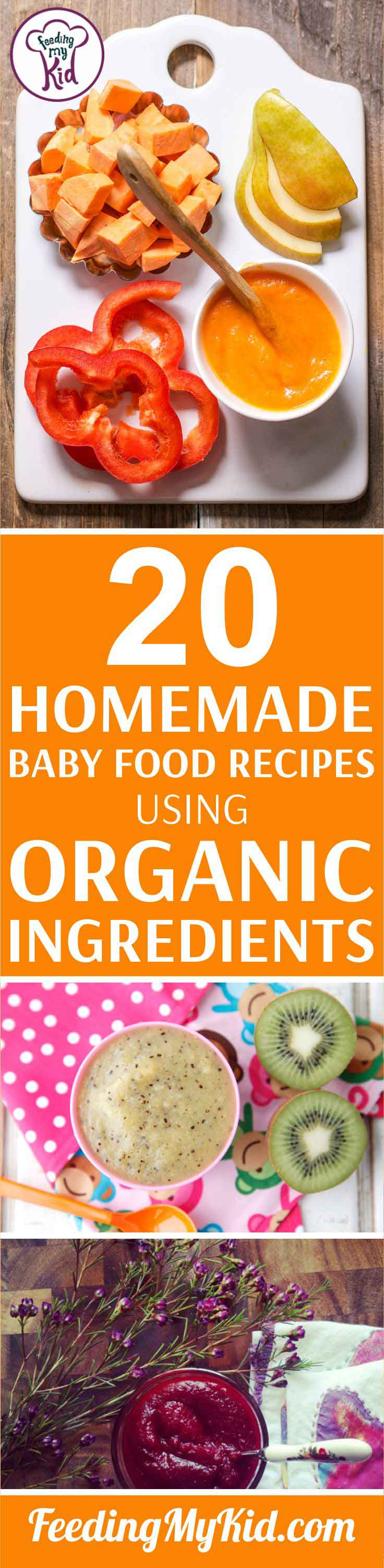 Many families prefer to eat organic. If you're looking for organic baby food recipes, this list is for you! This list uses all organic ingredients.