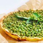 Gluten-Free Green Pea Tart with Mint