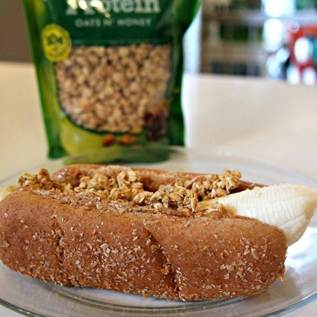 Granola, Peanut Butter Banana Dogs