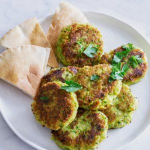 Green Pea and Chiclpea Falafel
