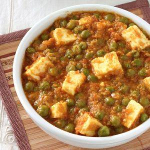Green Peas Cottage Cheese Curry