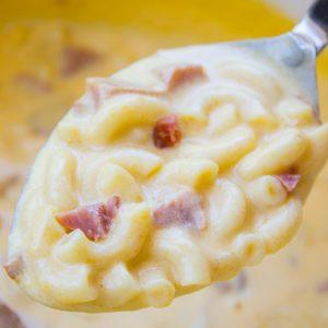 Ham Mac and Cheese Soup