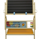 Little Partners My First Art Easel with Whiteboard and Chalkboard
