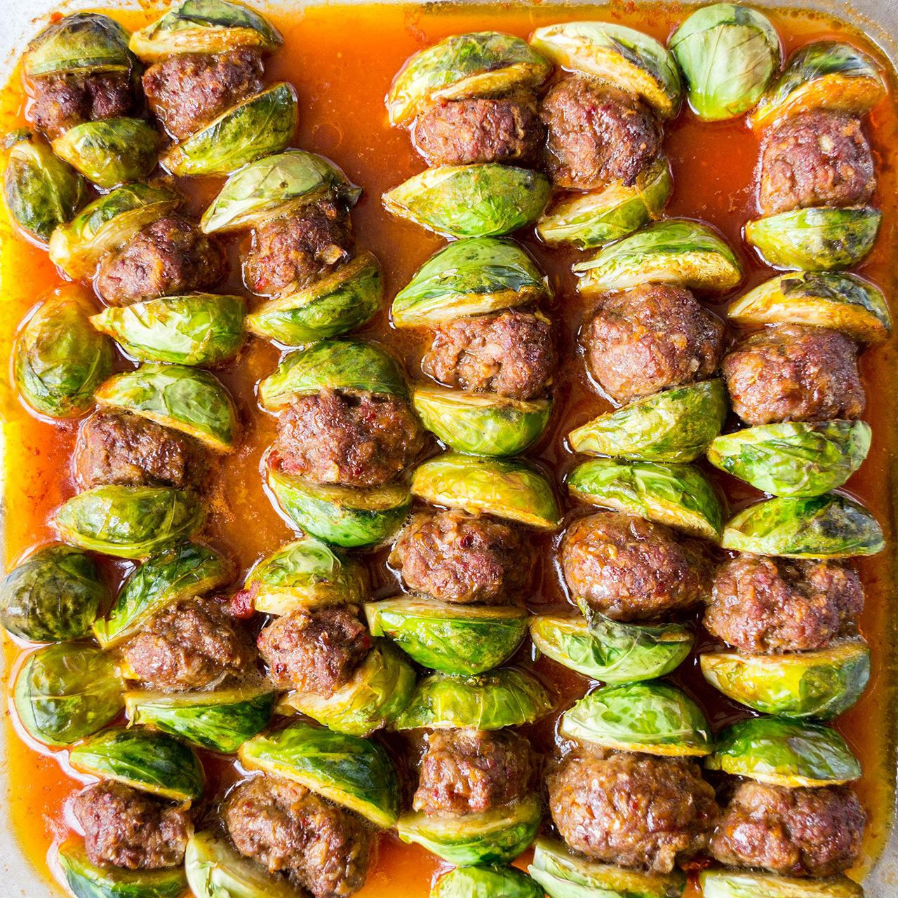 Meatballs With Brussel Sprouts