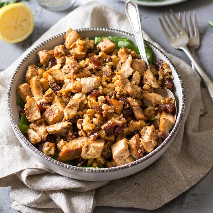 Paleo Chicken Salad With Dates and Walnuts