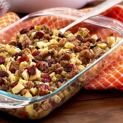 Paleo Sausage, Apple and Cranberry Stuffing