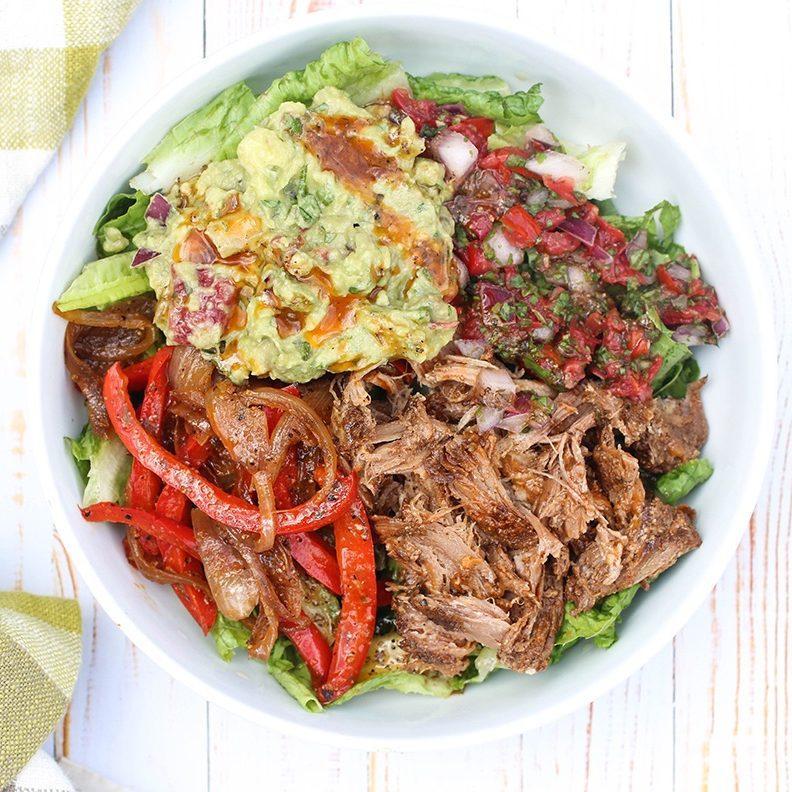 Pulled Pork Taco Salad