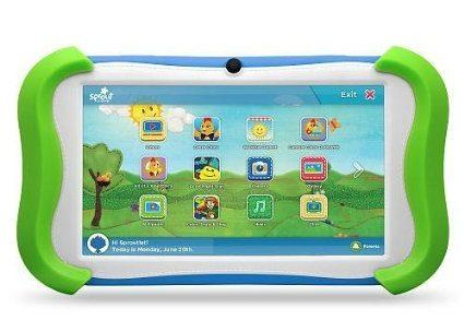 Sprout Channel Cubby 7 inch HD 16GB Kid Friendly Tablet Preloaded