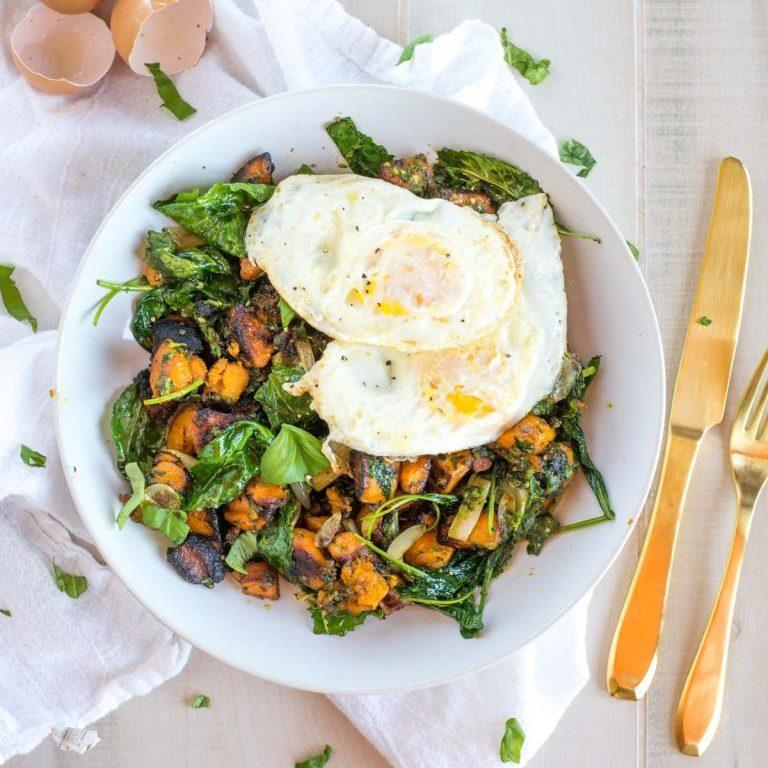The Best Breakfast Hash With Chunky Pesto