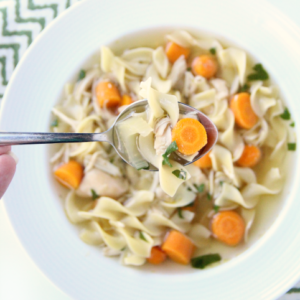 The Best Crockpot Chicken Noodle Soup