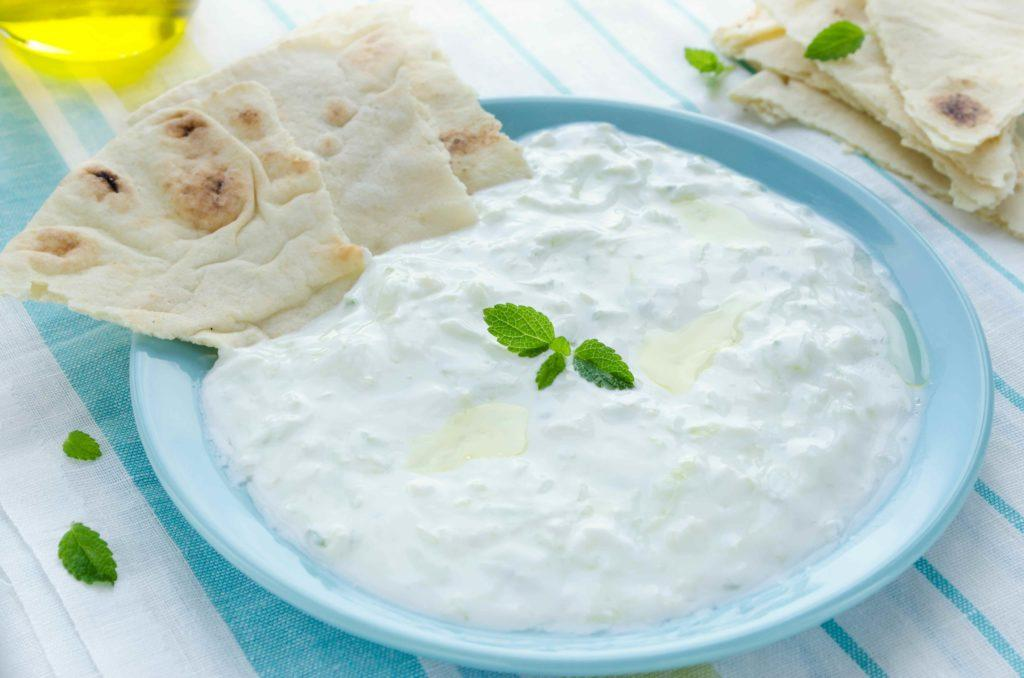 Make a Yogurt Dip with Mint