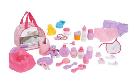 You and Me 30 Piece Baby Doll Care Accessories in Bag
