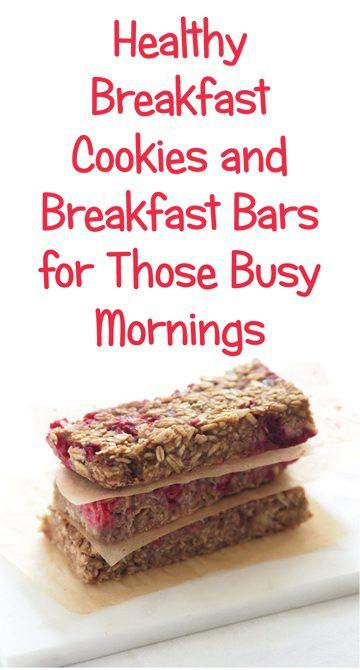 Try the recipes on this healthy breakfast cookie recipe list! Perfect for busy mornings when you need a grab-and-go breakfast.
