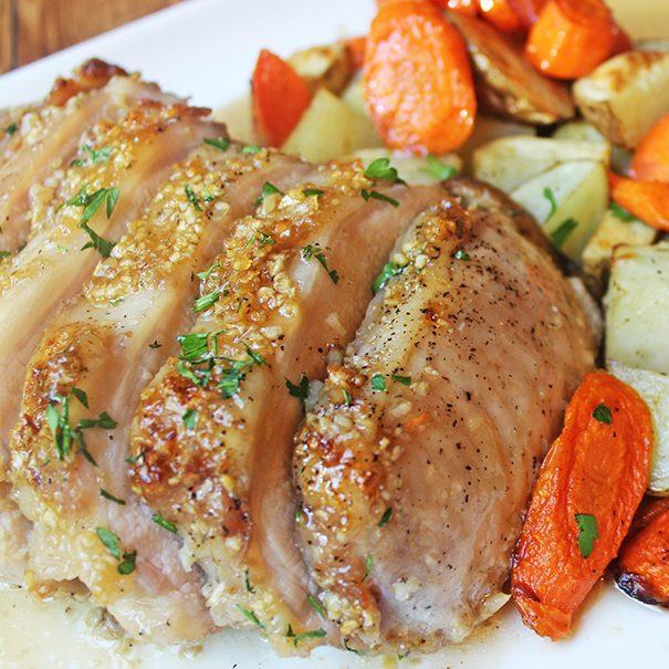 Brown Sugar Garlic Pork With Carrots and Potatoes