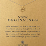 """Dogeared """"Reminders"""" New Beginnings Rising Lotus Pendant Necklace"""