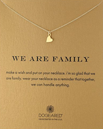 Dogeared We Are Family Heart Pendant Necklace