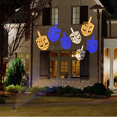 Gemmy Lightshow Hanukkah Whirl-A-Motion LED Projection Lights -
