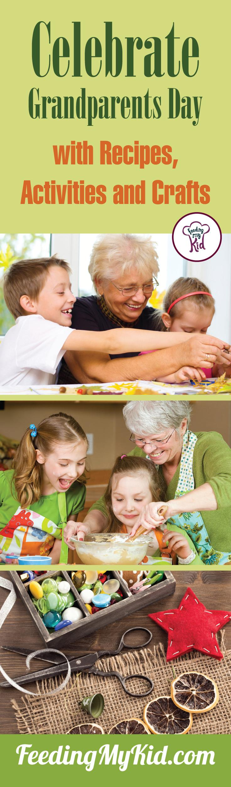 Check out these different recipes, activities, and crafts your kids can do with their grandparents on Grandparents Day! Enjoy the celebration!