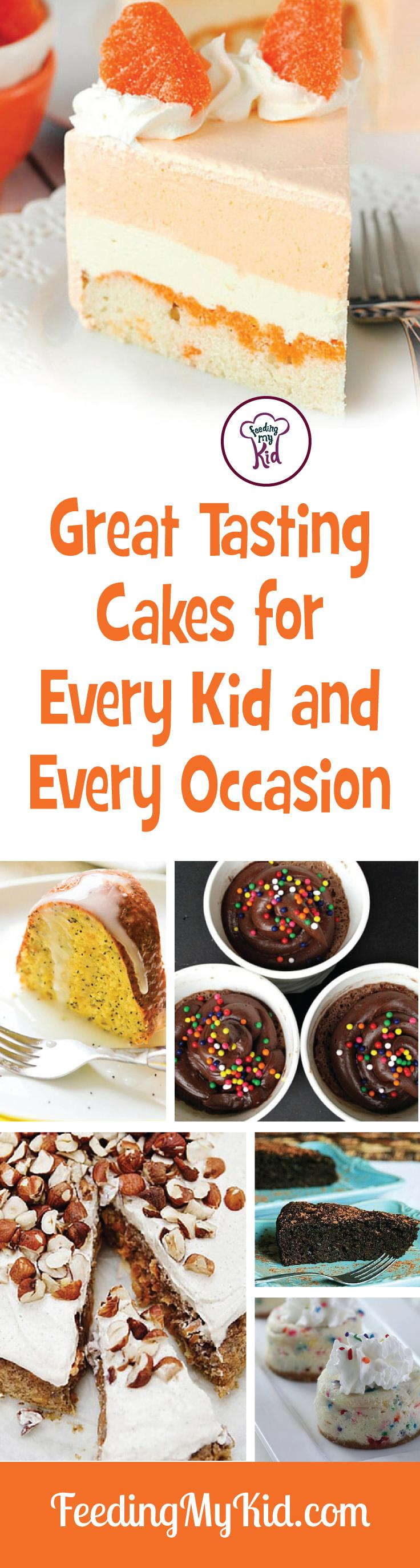 These cake recipes are perfect for tons of celebrations! You can replace sugar with healthier sugar alternatives to make these even healthier.