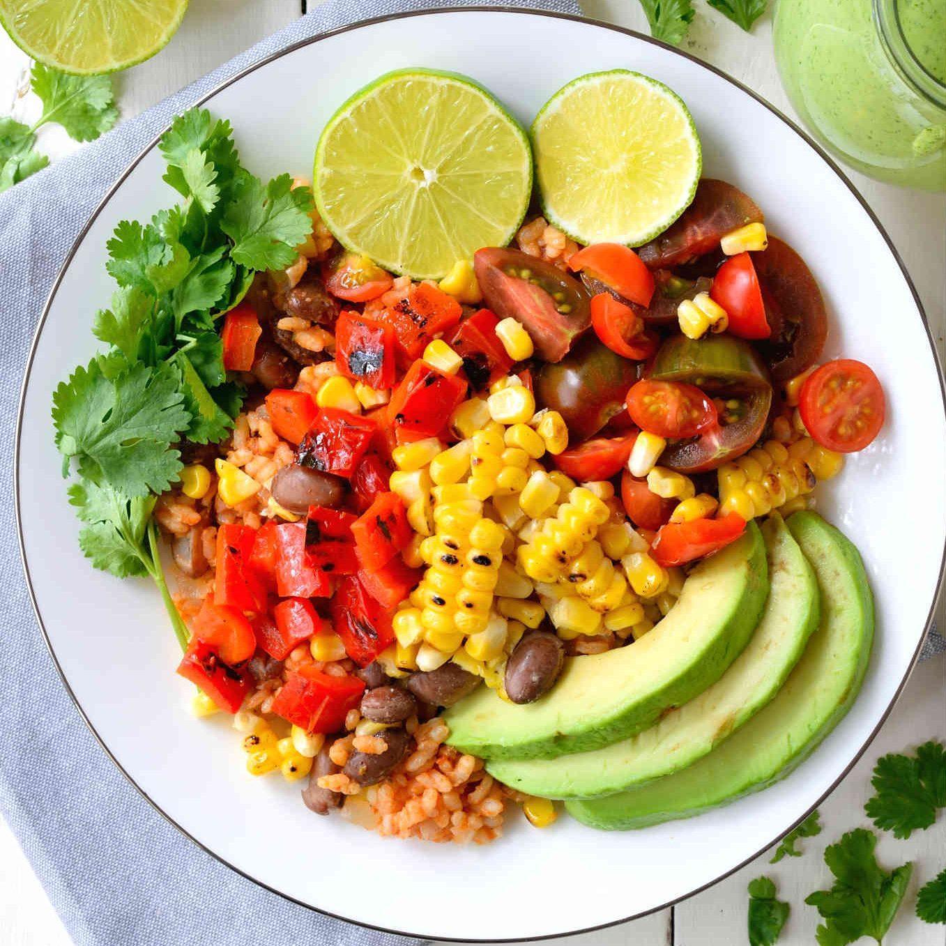 Grilled Veggie Vegan Burrito Bowl