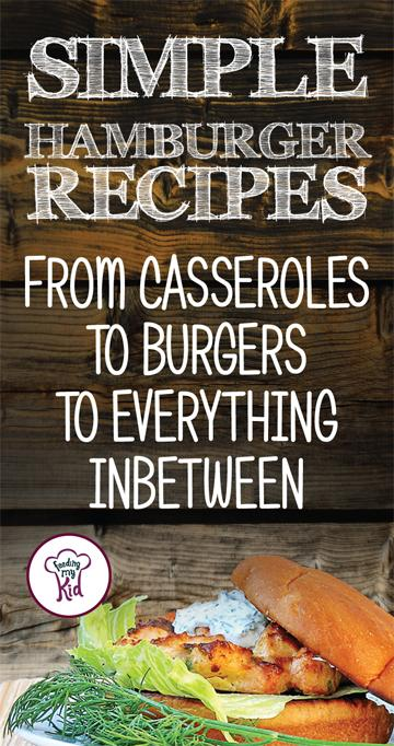 Be sure to take a look at these simple, easy to make hamburger recipes. There's a variety of different flavor combinations for burgers!