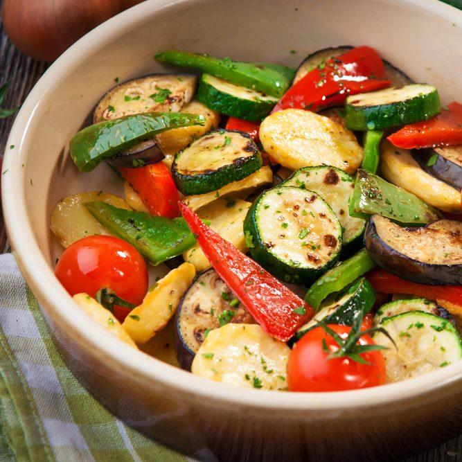 Healthy Mediterranean Vegetables In The Airfryer